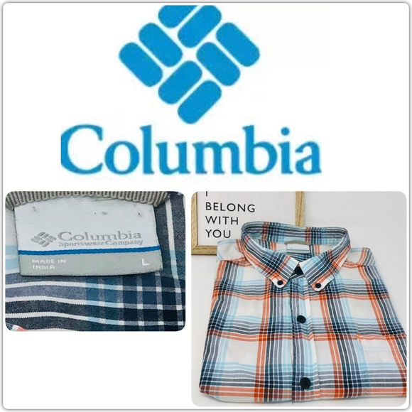 Columbia Other - Columbia LG SS plaid button down
